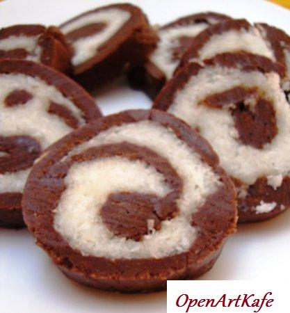 Рулет шоколадно-кокосовый